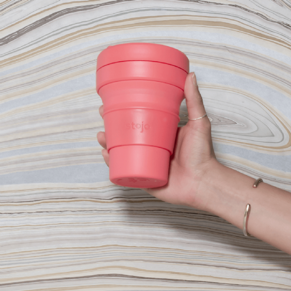 Stojo Brooklyn Pocket Collapsible Cup Coral 355ml
